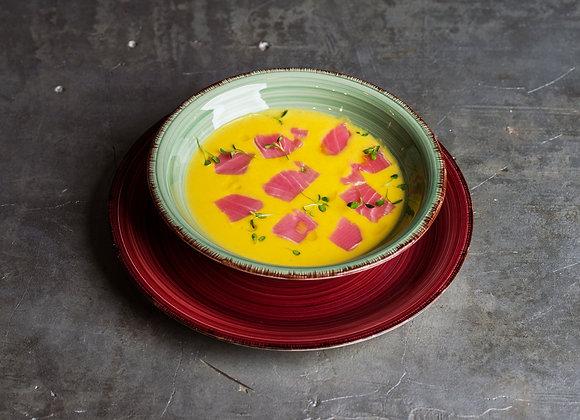 Сырный крем-суп с тунцом