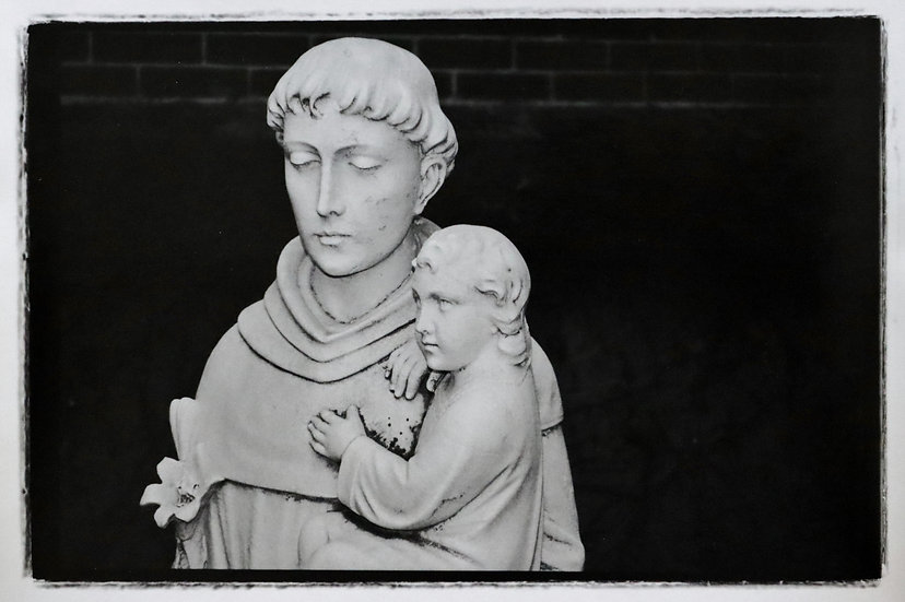 Saint Anthony of Padua, side view