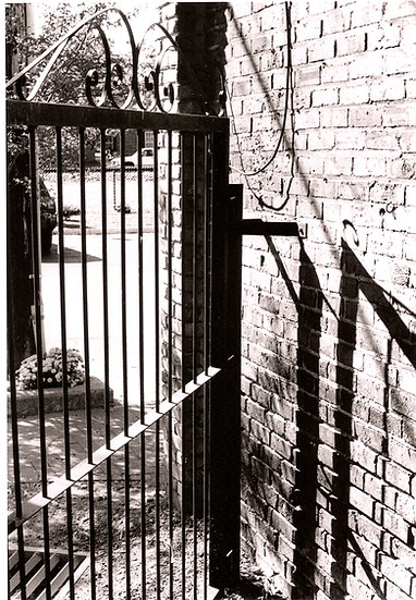 Brick Wall with Iron Gate