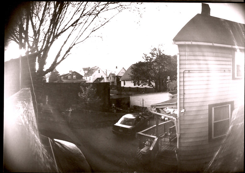 Little Italy Backyard, positive print.