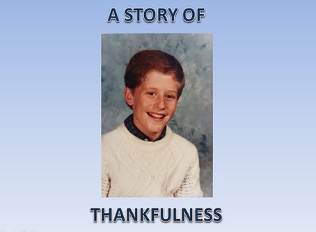 A Story of Thankfulness!