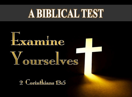 A Biblical Test of Salvation