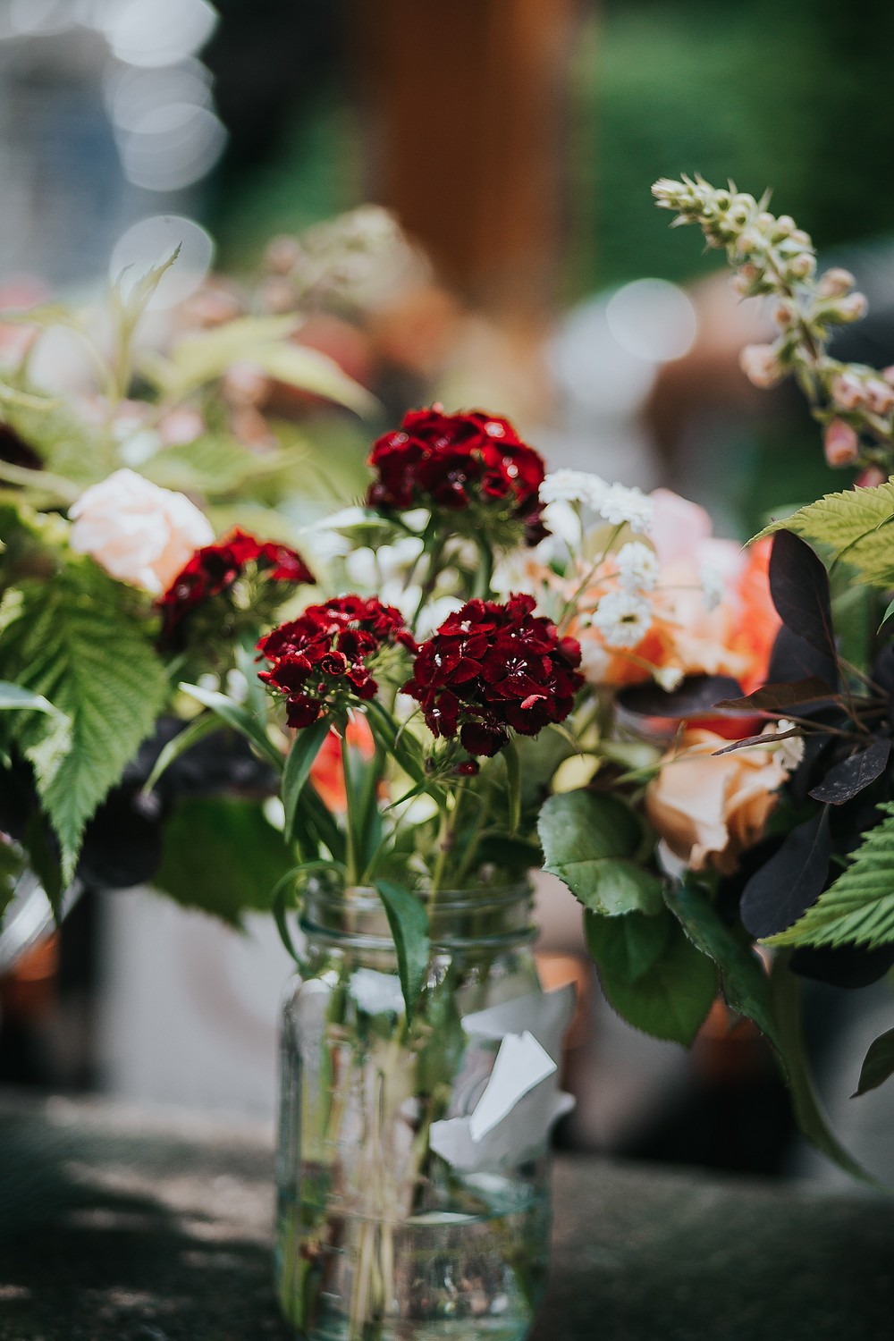 Dusty Rose, Maroon, Green Floral | Wedding Coordinator | Marysville, WA
