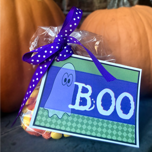 BOO Printable Halloween Tag from www.craftybeedesigns.com