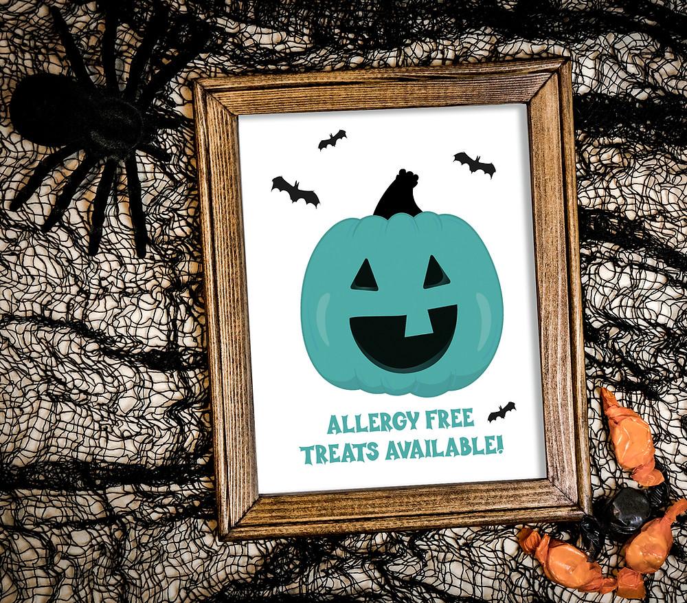 Printable Teal Pumpkin Sign
