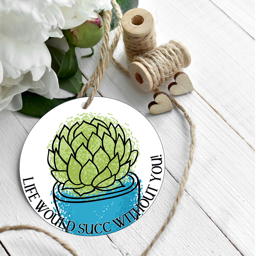 Printable Succulent Valentine's Day Tag