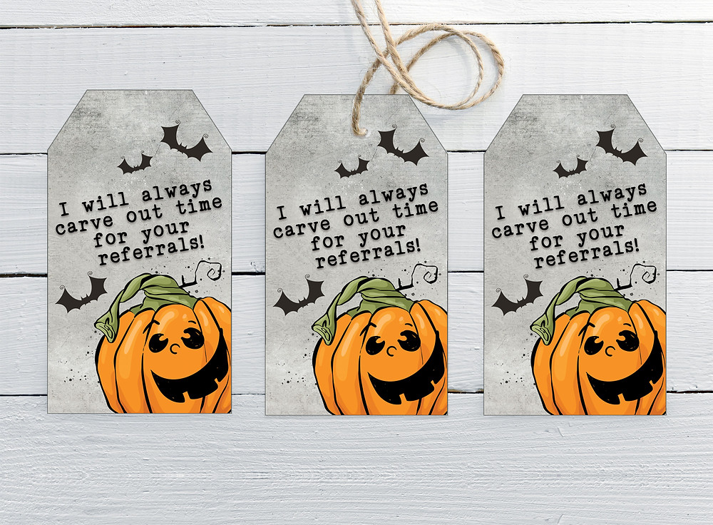Halloween Referral Tag