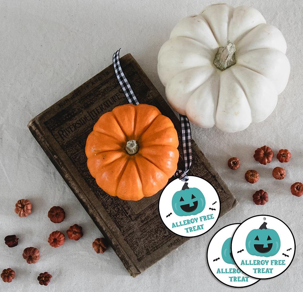Teal Pumpkin Gift Tags