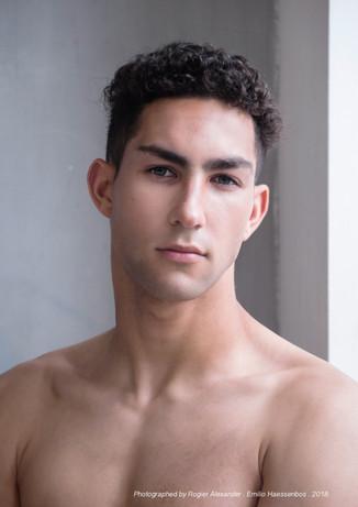 Makeup Haroz Photography JR Model Management Model Emilio