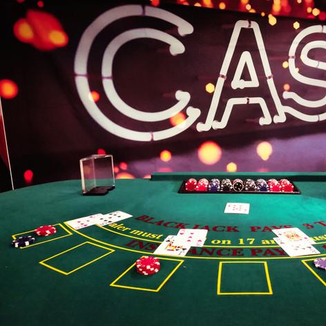 Green BlackJack Casino backdrop