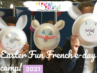 Réservez dès maintenant pour les Easter fun french e-day camps 2021!