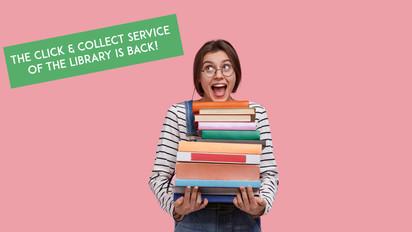 Click and collect à la bibliothèque de l'Institut français.