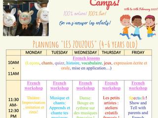 Découvrez le programme de nos February Fun French E-Day Camp 2021!