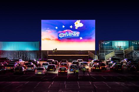 « The drive in » : le cinéma en plein air.