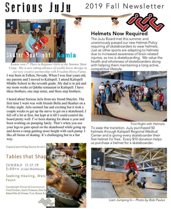 2019 JuJu Fall Newsletter