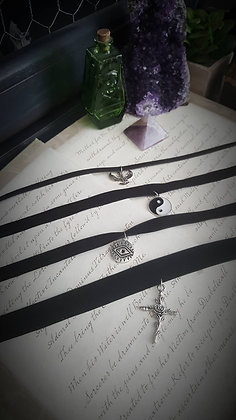 Witchy Black Chokers