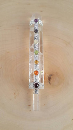 Crystal Quartz Chakra Aligning Wand