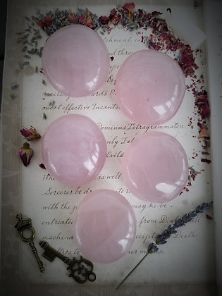 Rose Quartz Crystal Palm Stones