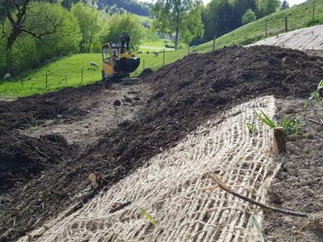 Gewürz- und Heilkräuteranbau - Das Mulchen / Spice and medicinal herb cultivation - mulching