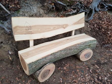 Holzbank/ Horsemade wooden bench