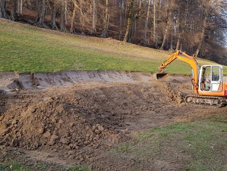 Gewürz- und Heilkräuteranbau - Die Bauarbeiten / The construction work