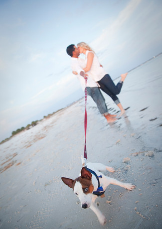 Couple with dog
