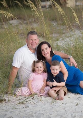 On the beach family photo