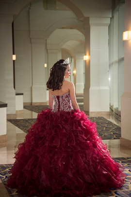 Quinceanera in formal gown