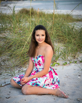 Quinceanera photo on the beach