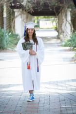 Graduation photo at USF