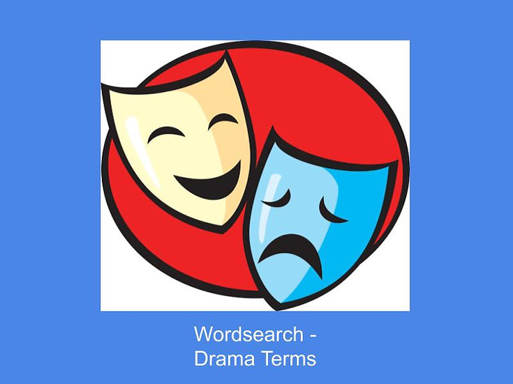 Drama Terms Wordsearch
