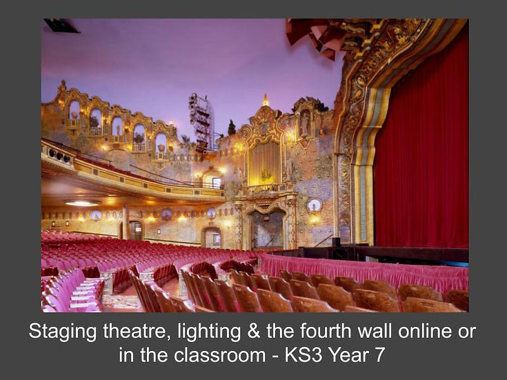 Staging Theatre, Lighting & The Fourth Wall Online or in the Classroom