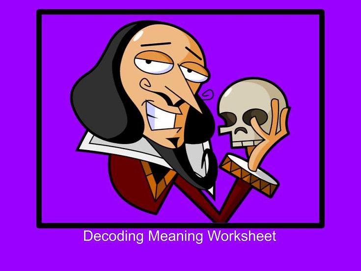 Decoding meaning on stage