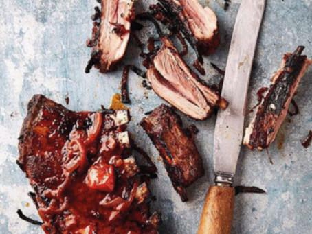Crispy warthog ribs