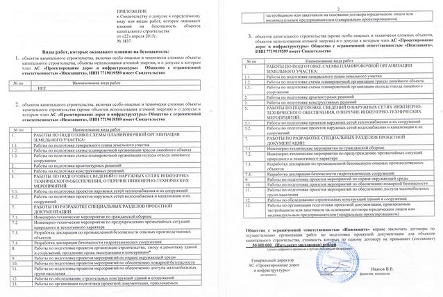 """Допуск СРО компании ООО """"ИнжЗащита"""". Проектирование."""
