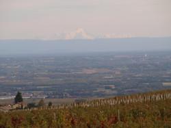 Le Mont Blanc vu depuis CHIROUBLES
