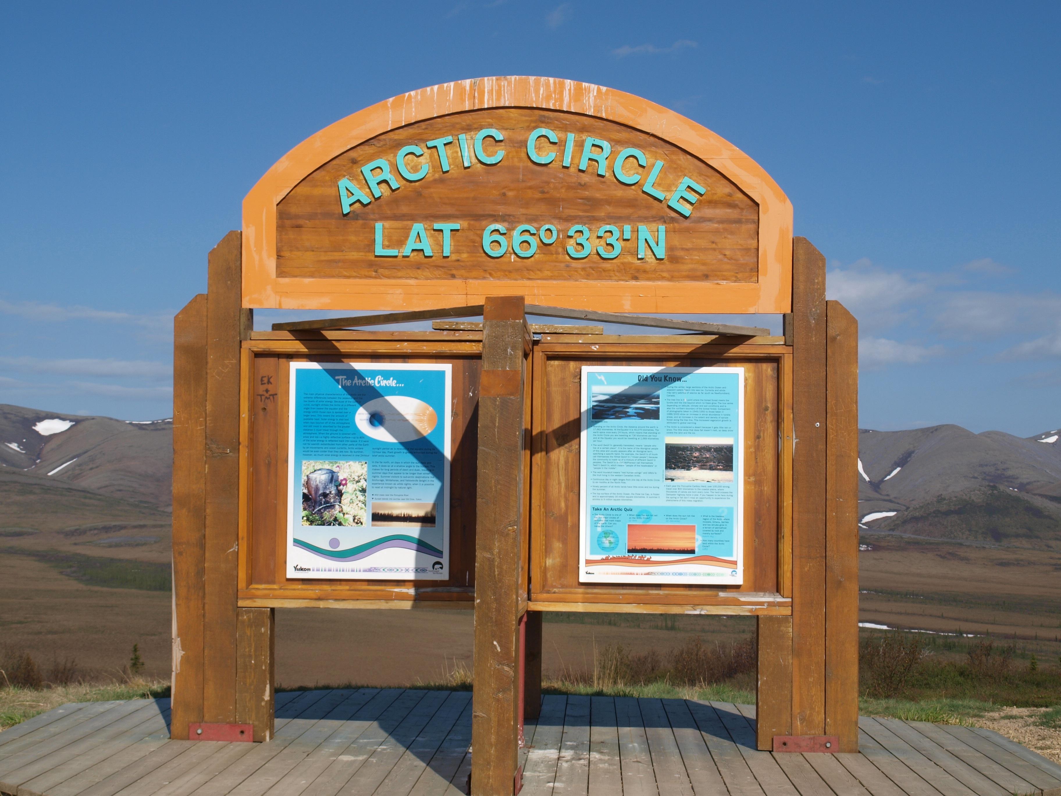 Le cercle pôlaire au Yukon