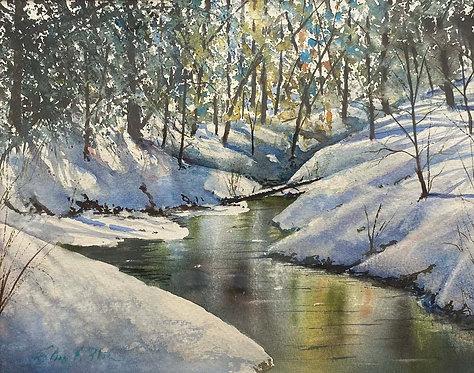 """""""Late Snow"""" by Glenn Blue"""