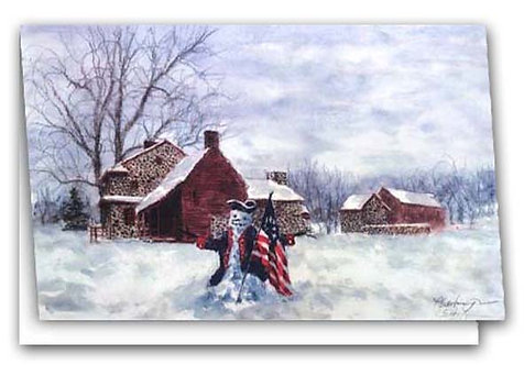 on_duty_Scarborough snowman colonial revolutionary war