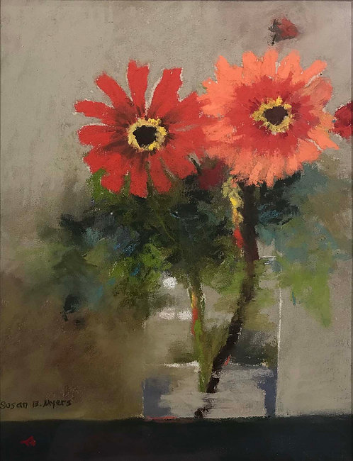 """Zinnias"" by Susan B. Myers"