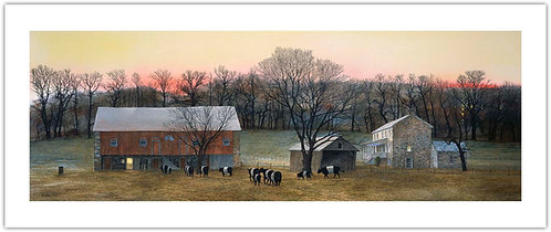 In_From_The_Fields_peter_sculthrope_print_stone_house_barn_cows_wyeth