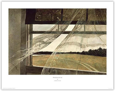Wind From the Sea - Andrew Wyeth print curtains