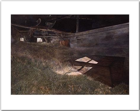 McVey's Barn Andrew Wyeth print sunlight hay loft