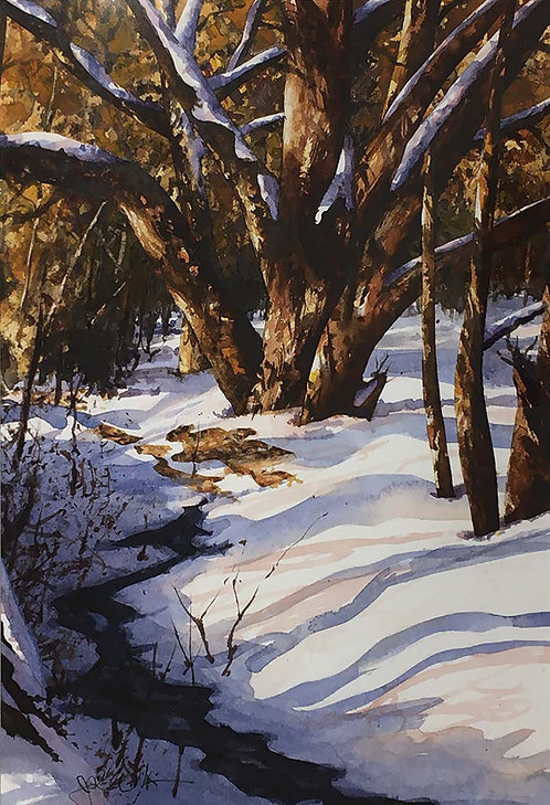 """Snow Branches"" by John Wilkison"