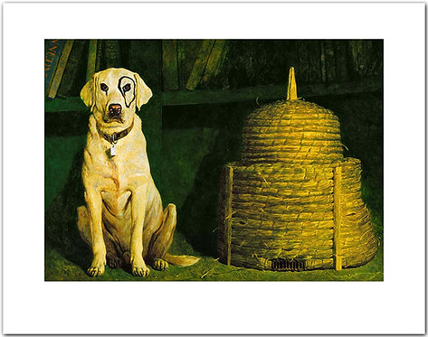 Kleberg - Jamie Wyeth print dog beehive