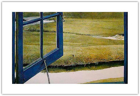 Love in the Afternoon  Andrew Wyeth print open window