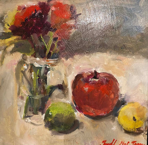 """""""Flowers and Fruit"""" by Judith McCabe Jarvis"""