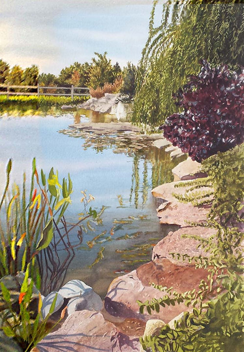 """Pond at Leg Up Farm"" by Tom Newnam"