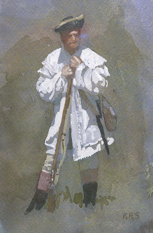 american soldier revolutionary war painting