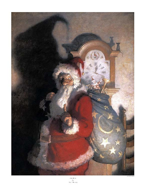 N_C_Wyeth_print_old_kris_santa_claus_christmas